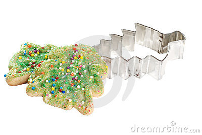 Christmas tree cookie with cutter
