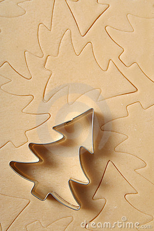 Free Christmas Tree Cookie Cutter Royalty Free Stock Photos - 447508