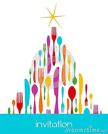 Free Christmas Tree Cutlery Pattern Stock Image - 11247591