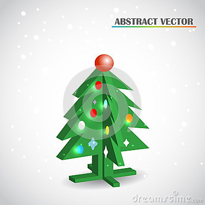 Christmas tree 3d vector