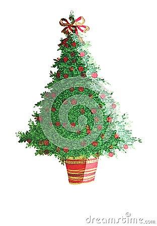 Christmas Tree/Decorated