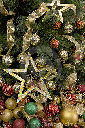 Christmas tree decorated backgrounds