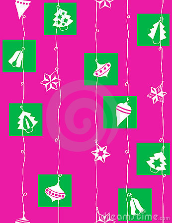 Christmas-tree decoration - seamless pattern