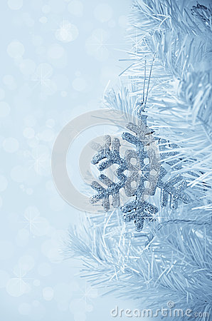 Christmas tree decoration snowflake.