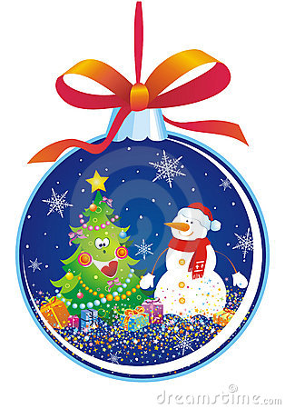 Christmas tree decoration with snowman