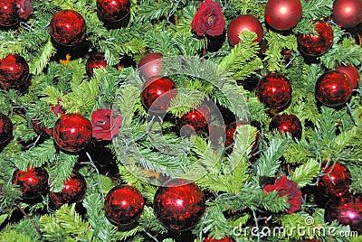 Christmas-tree decorations on a christmas tree