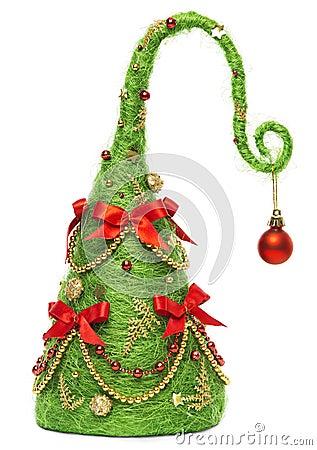 Free Christmas Tree Decorative, Abstract Creative Xmas Hanging Decoration, White Background Stock Photos - 45748593
