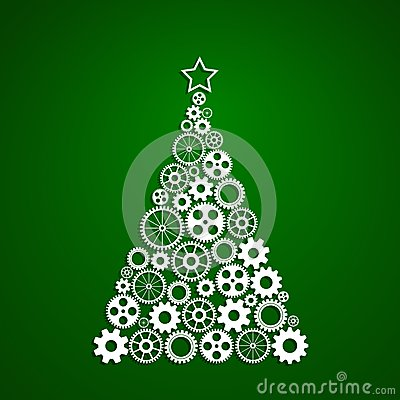 Free Christmas Tree F Gears Royalty Free Stock Photos - 46702548