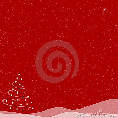 Christmas Tree - Falling Snow