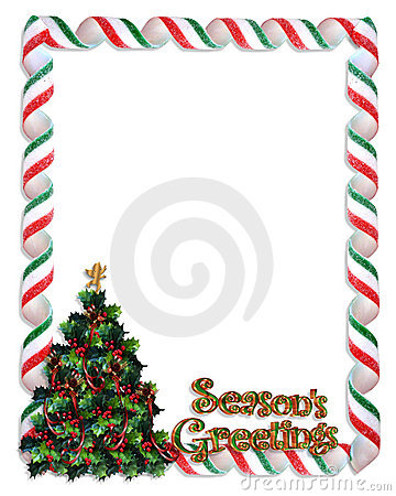 Christmas tree frame border