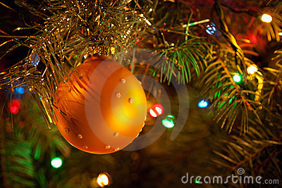 Christmas-tree, garlands and decorations