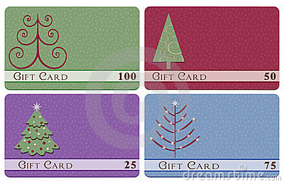 Christmas tree gift cards