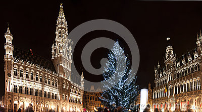 Christmas tree in Grand Place, Brussels