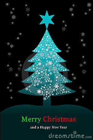Christmas tree, Greeting card