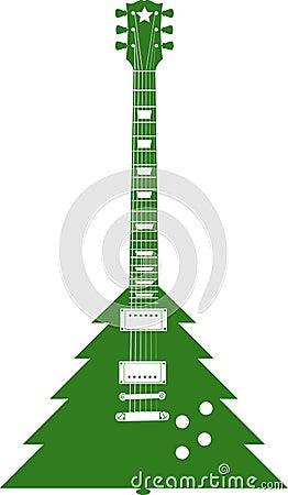 Free Christmas Tree Guitar Royalty Free Stock Photo - 5525035