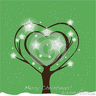 Christmas tree heart shape
