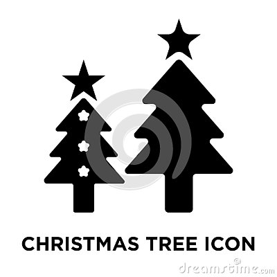 Christmas tree icon vector isolated on white background, logo co Vector Illustration