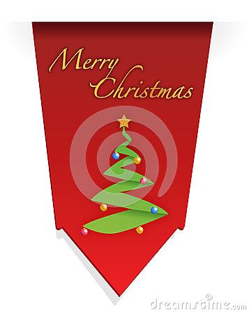 Christmas tree illustration design