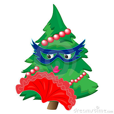 Christmas tree illustration.isolated character