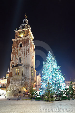 Free Christmas Tree In Old Krakow Royalty Free Stock Photography - 3794267