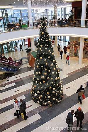 Christmas tree inside the shopping center Editorial Photography
