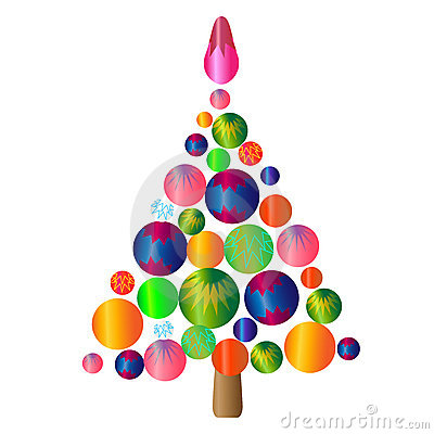 Christmas tree.isolated object illustration