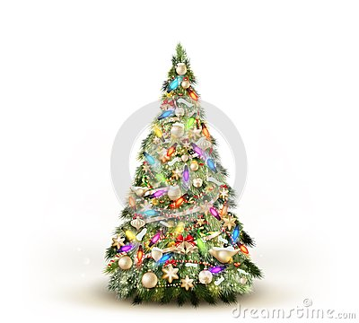 Free Christmas Tree Isolated On White. EPS 10 Stock Photography - 48060072