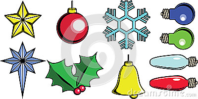 Christmas tree items vector