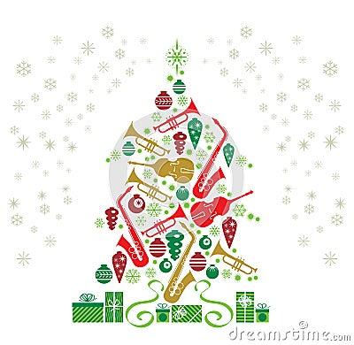 Free Christmas Tree Jazz Stock Images - 16636454