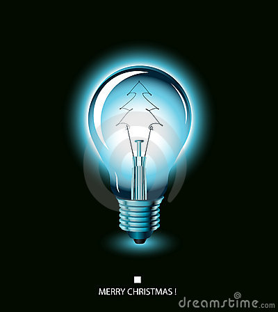 Free Christmas Tree Light Bulb - Blue Royalty Free Stock Images - 7198239