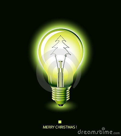 Free Christmas Tree Light Bulb - Green Stock Images - 7198244