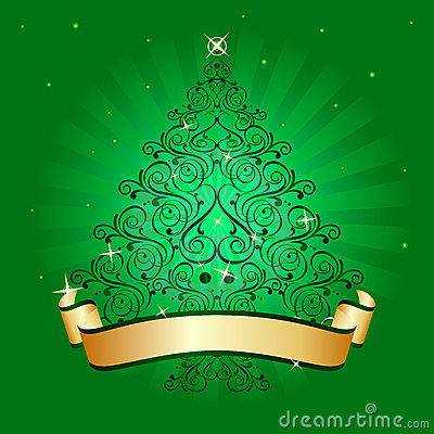 Christmas tree light green