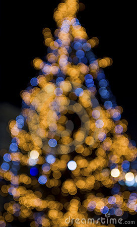Christmas tree lights background