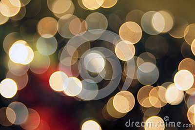 Christmas Tree Lights Bokeh Background