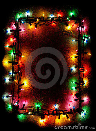 Christmas Tree Lights Frame