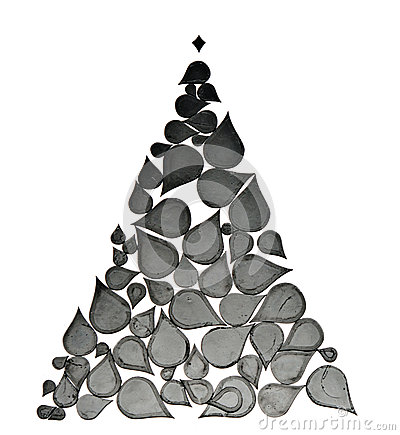 Christmas tree made from abstract elements
