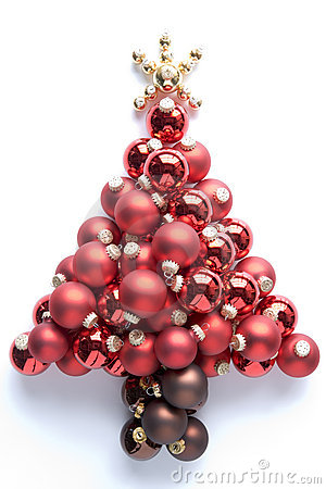 Christmas Tree Made From Baubles