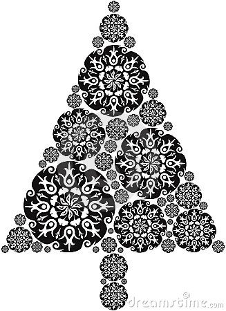 Christmas Tree made of Mandalas