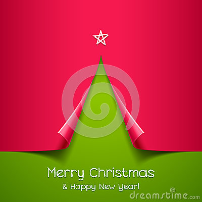 Free Christmas Tree Made Of Paper Stock Photography - 27663342