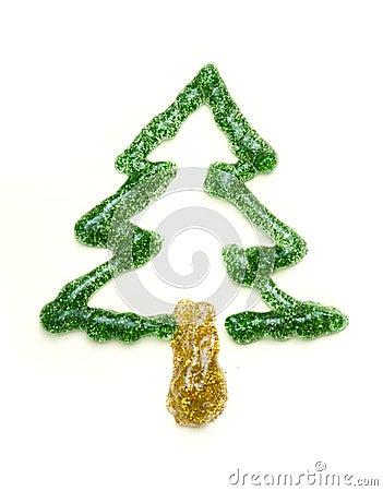 Christmas tree made of shiny gel