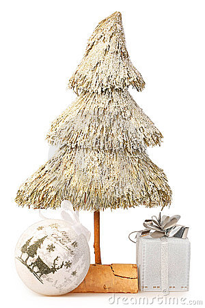 Christmas tree made of straw