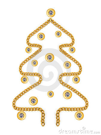 Christmas tree mafe of jewelry