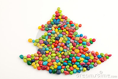 Christmas tree many-coloured