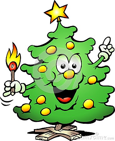 Christmas Tree  With a match