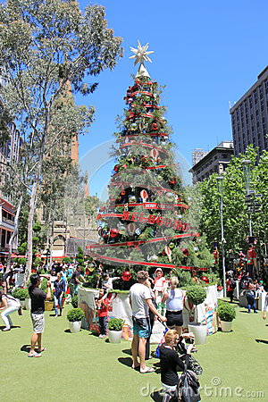 Christmas tree Melbourne Editorial Stock Image