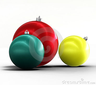 Christmas tree and new year ornaments winter decor