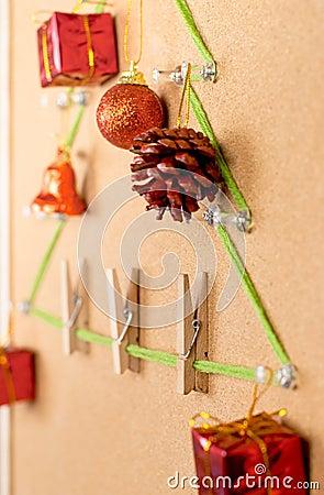 Christmas tree on noticeboard