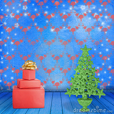 Christmas tree in the old room