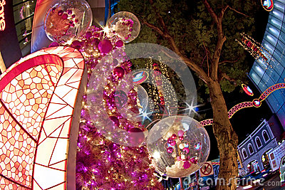 Christmas tree at orchard road singapore Editorial Stock Photo