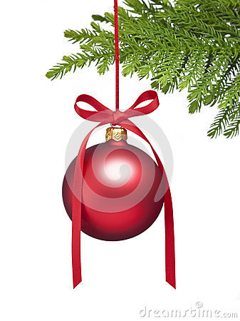 Christmas Tree Ornament Background Stock Photo